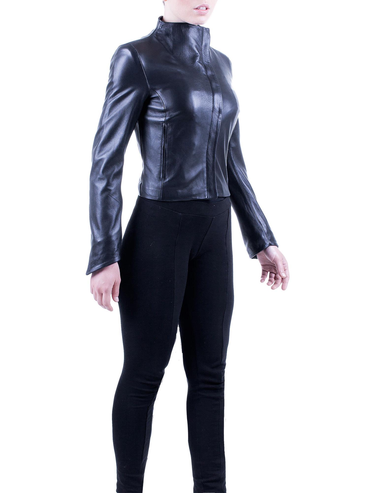 Hermes Short Leather Jacket - Janni Derma