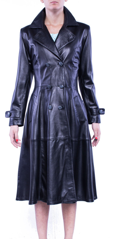 Redingote Leather Coat
