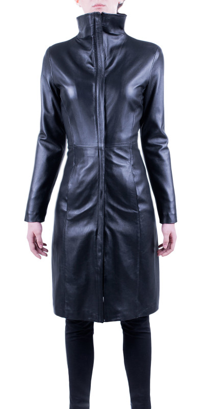 Spaziale Leather Half-Coat